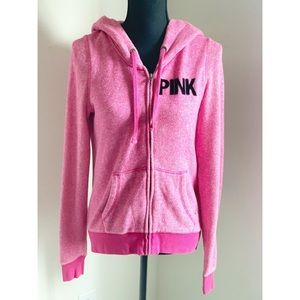 Tops - PINK! Hoodie with felt design on the back. Medium